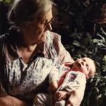 Josh & Great Grandma Moore, May 30, 1982