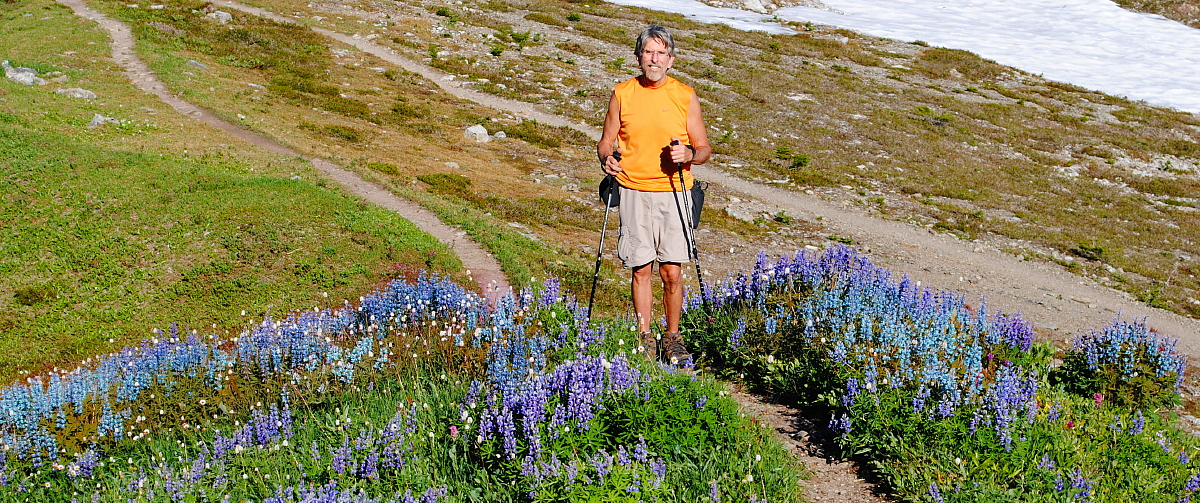 Roger Moore hiking in HIgh Divide Washington