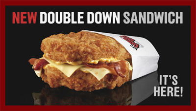 KFC Double Down ~ NOT Part Of Healthcare Reform!