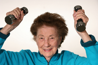 Life With Mom Week 13 ~ Seniors Can Still Build Muscle By Pressing Iron