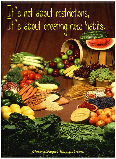 It's Not About Restrictions ~ It's About Creating New Habits