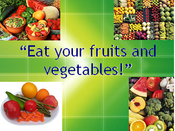 Fruits And Vegetables Equals Happiness