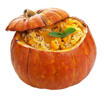 Thanksgiving Dinner: Stuffed Pumpkin