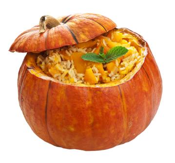 Thanksgiving Dinner: Stuffed Pumpkin