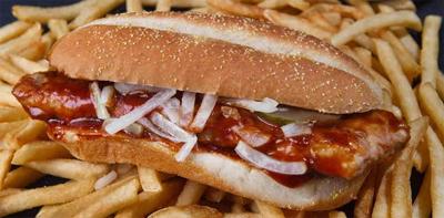 McDonald's McRib ~  Restructured  Meat