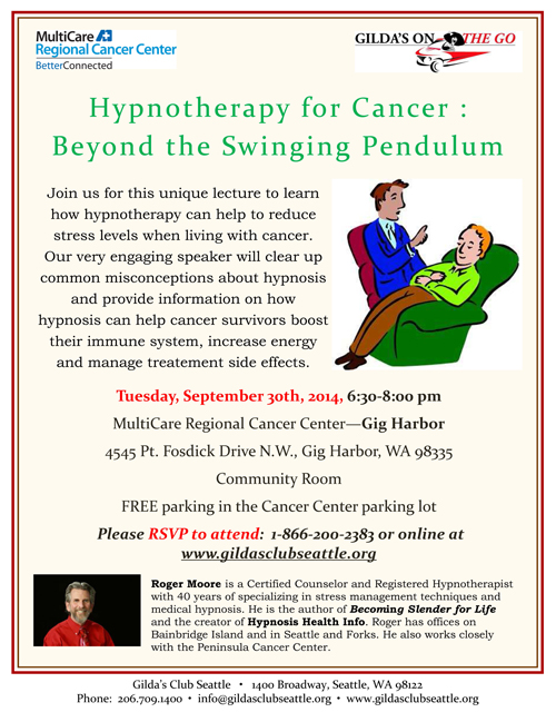 Cancer Hypnotherapy: Beyond the Swinging Pendulum