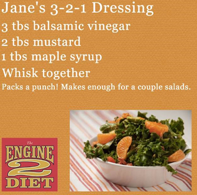 Jane's 3-2-1 salad dressing