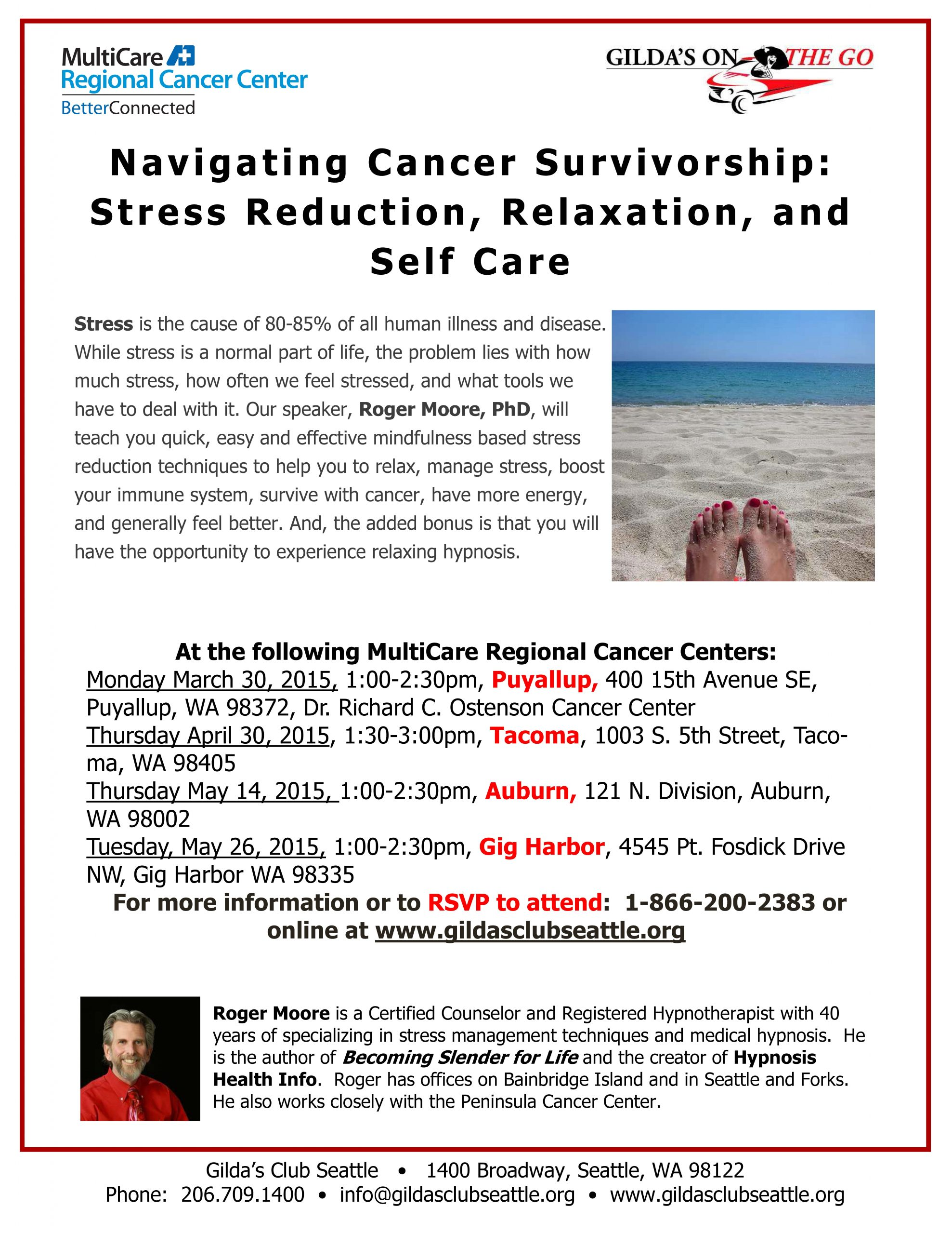 Navigating Cancer Survivorship: Stress Reduction, Relaxation, and Self Care