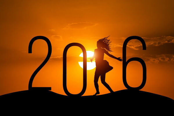 silhouette Woman jumping over 2016