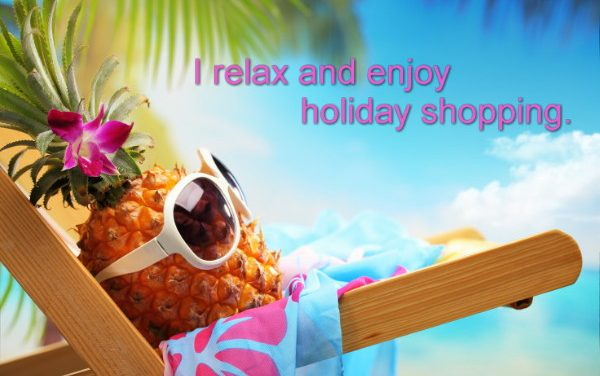 Relaxed holiday shopping