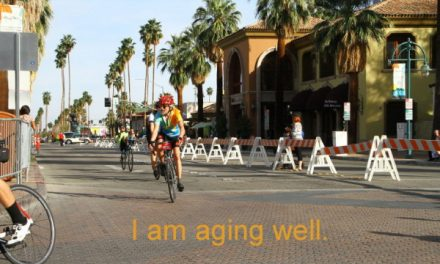 Cyclists age better
