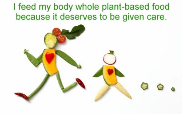 Be slimmer with whole plant-based food