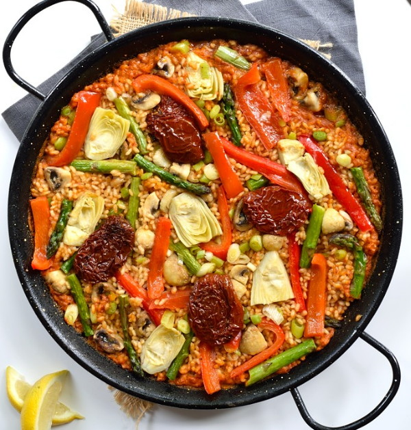 Spring Vegetable Vegan Paella