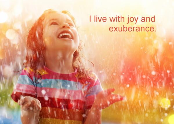 Joy and exuberance